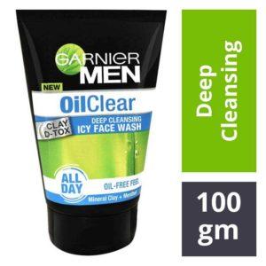 Garnier Men Oil Clear Deep Cleansing Facewash : 100 gms