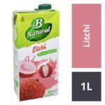B Natural Litchi Juice : 1 Litre