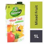 B Natural Mixed Fruit Juice : 1 Litre