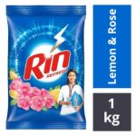 Rin Refresh Lemon & Rose Detergent Powder : 1 kg