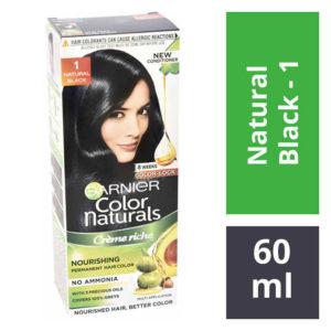 Garnier Color Naturals 1 Black Hair Colour – 60 ml + 50 gms : 1 Unit