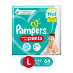 Pampers Baby Dry Pants – Large : 64 U