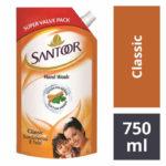 Santoor Handwash Pouch : 750 ml