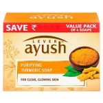Ayush Purifying Turmeric Soap: 4×100 gm