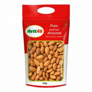 Nuts4U Plain Almonds 500 grms