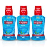 Colgate Plax Antibacterial Mouthwash, 24/7 Fresh Breath – 3 x 250 ml (Pepper Mint)