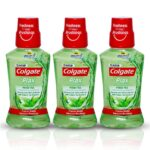 Colgate Plax Antibacterial Mouthwash, 10X longer cooling, 24/7 Fresh Breath, with Natural tea extracts – 3 x 250 ml (Fresh Tea)